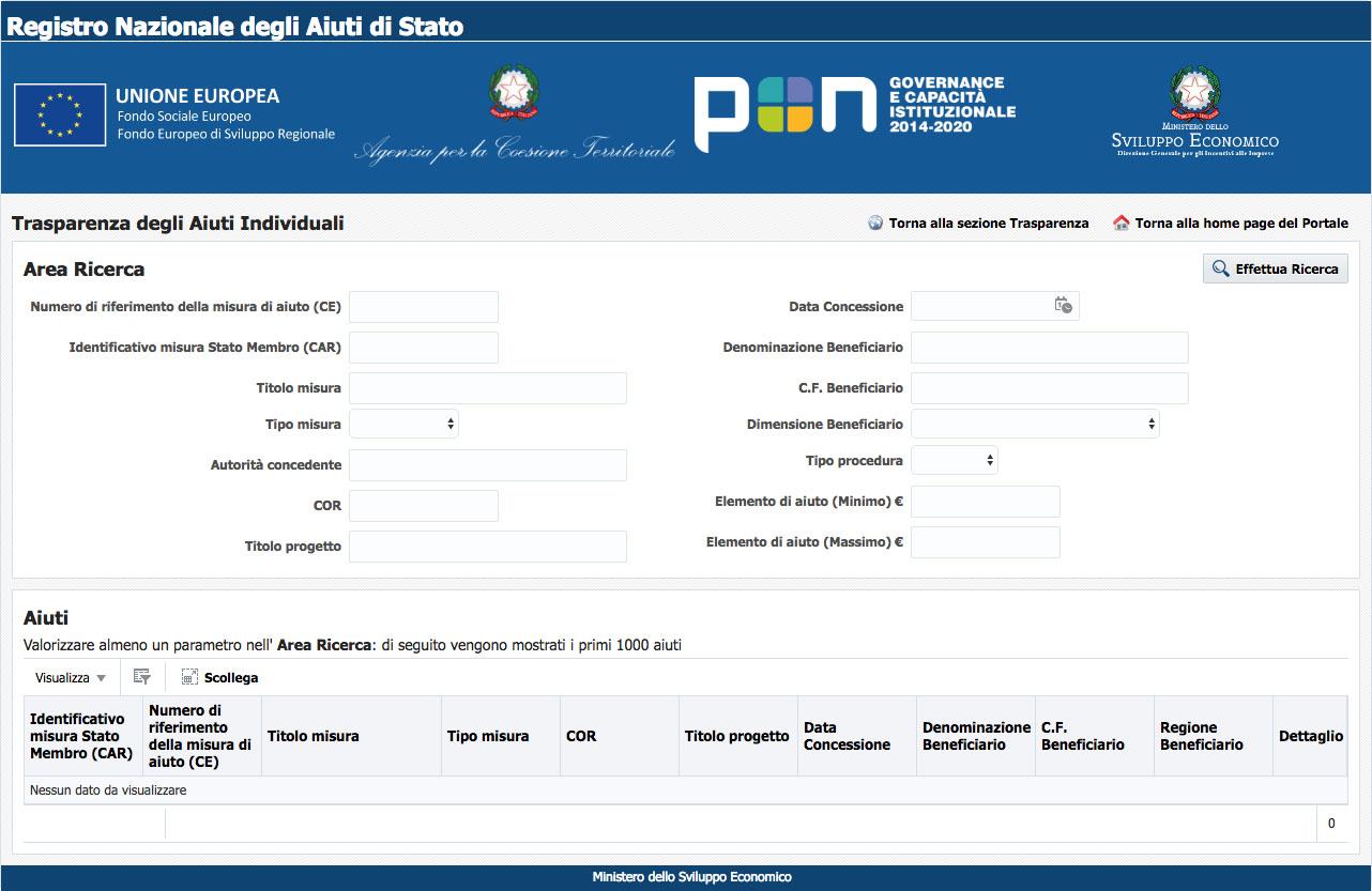 Registro Nazionale degli Aiuti di Stato